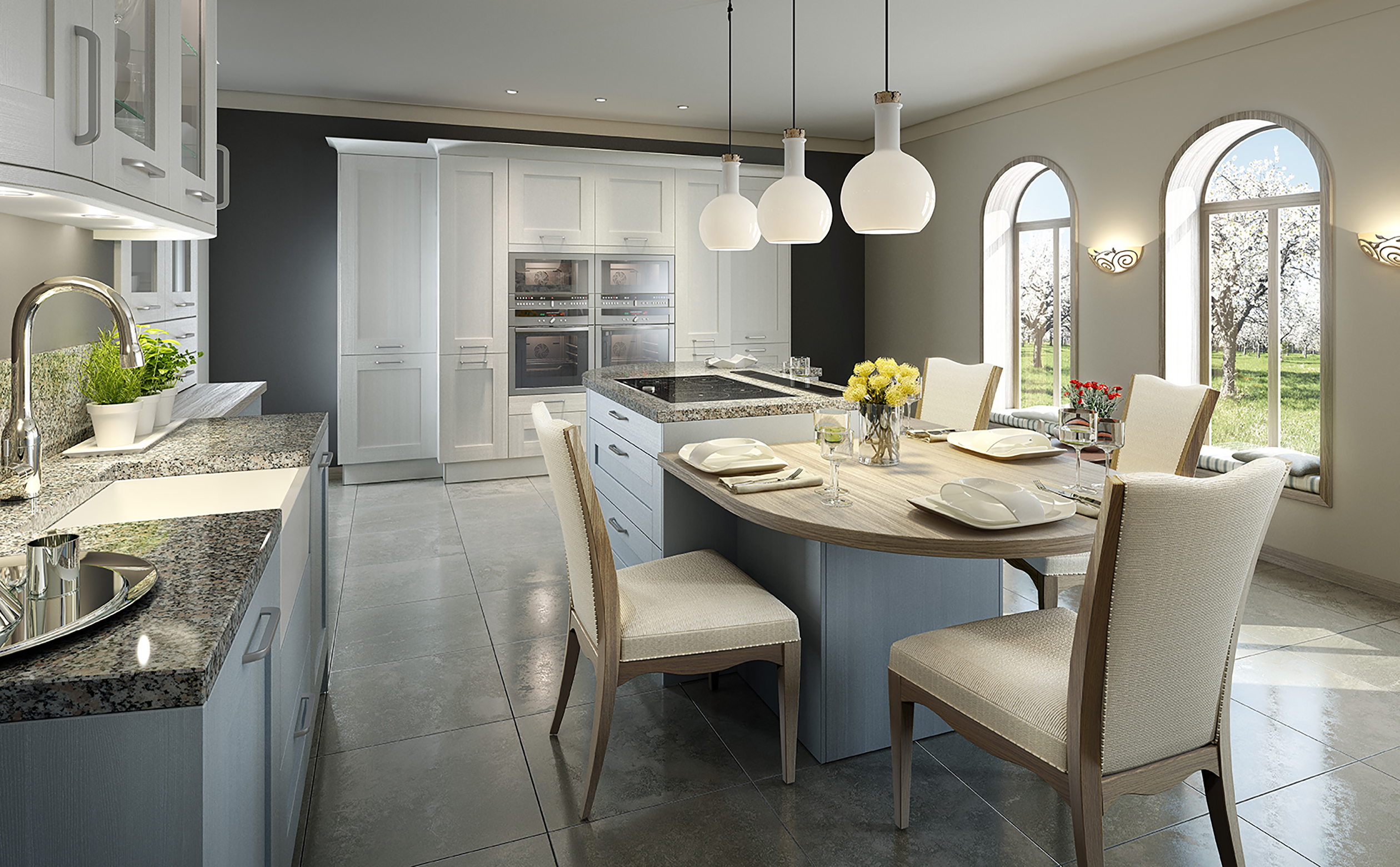 k che blau kueche blau p2 ptc kitchens kueche blau p4 ptc kitchens retro k che blau leuchter. Black Bedroom Furniture Sets. Home Design Ideas