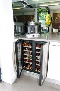 Wine chiller with plenty of room
