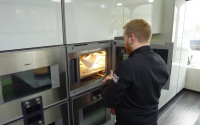 One of our designers, Jakub, made crème brulee's in our Gaggenau steam oven!