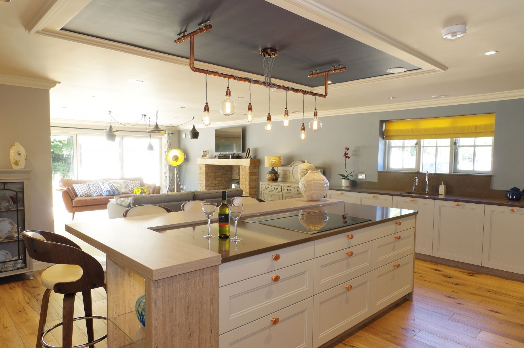 Contemporary design with copper accents ptc kitchens - Kitchen with copper accents ...