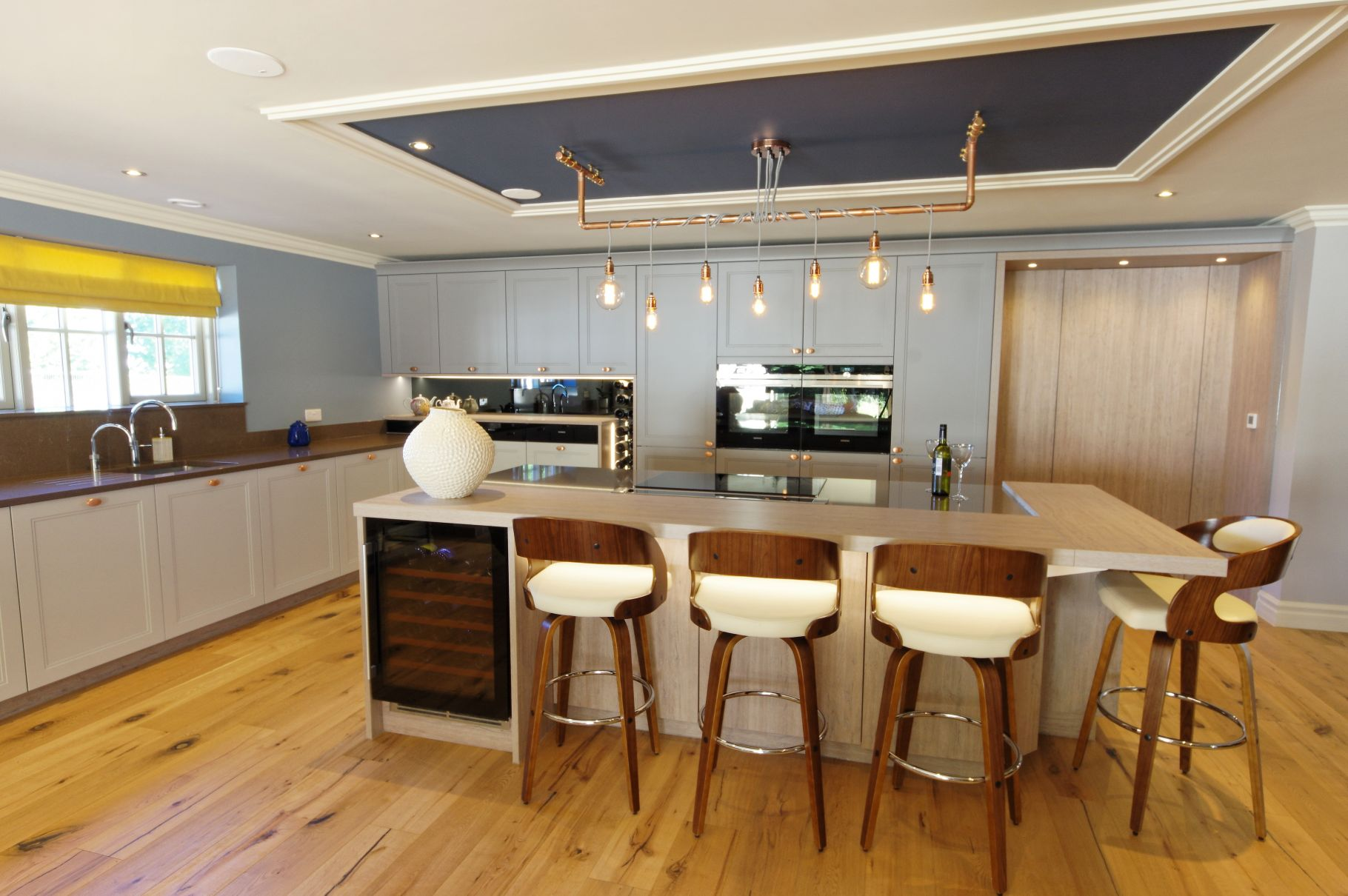 contemporary design with copper accents ptc kitchens