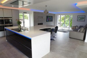 High Gloss Black Finish with Smart LED Lighting and Siemens Appliances
