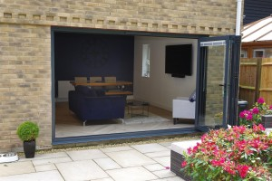 Bi-fold doors to create a more open space