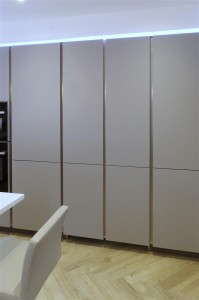 Pearl Grey Kitchen with hidden door (closed)