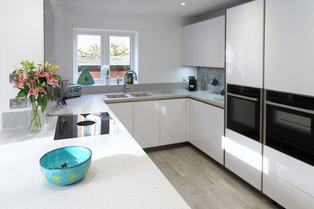 Polar White Kitchen with Marrakesh influences