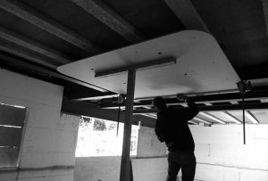 Ceiling fitting install