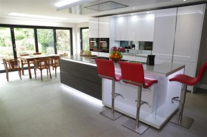 Polar White Kitchen with Miele appliances