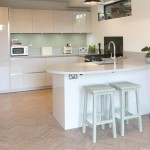 High Gloss Taupe Kitchen with Blanco Sink and Neff Appliances / Silestone worktops