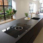 Dekton Domoos worktop, blanco subline sink anthracite and Bora Basic glass ceramic induction cooktop