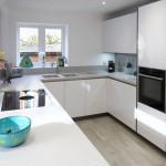 Polar White Kitchen with Marrakesh influences