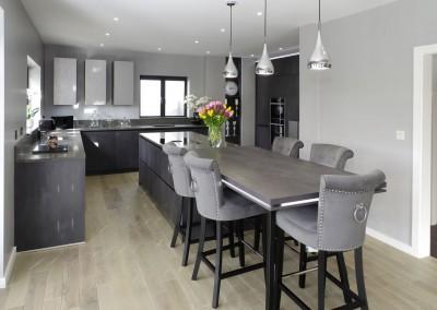 Concrete Graphite kitchen with secret doors