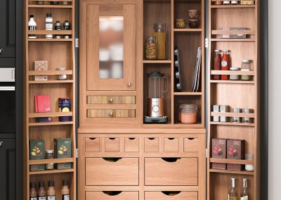 classic kitchen pantry unit solid wood