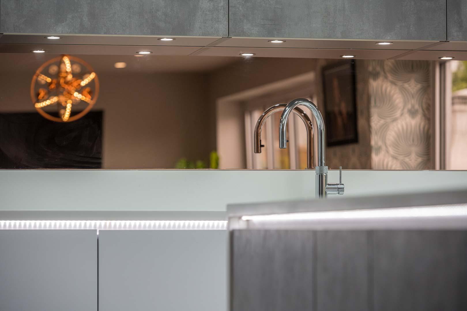 Kitchen LED strip lighting