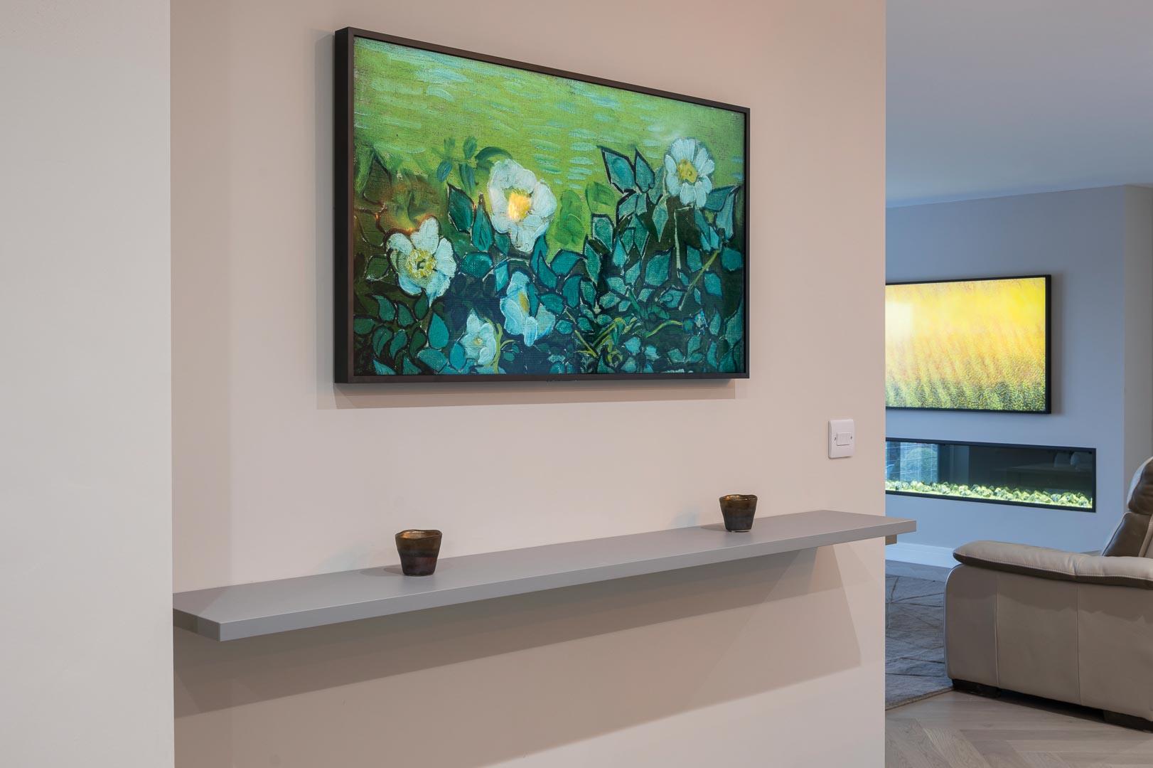 smart TV frame art qled